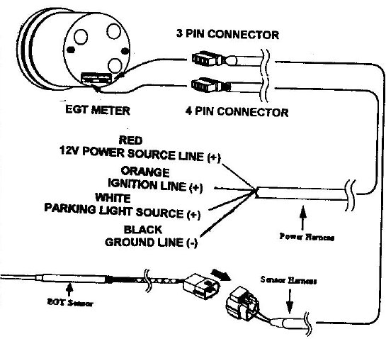 egt_gr10 how to install an auto meter pro comp ultra lite voltmeter gauge Autometer Rpm Wiring Diagram at edmiracle.co