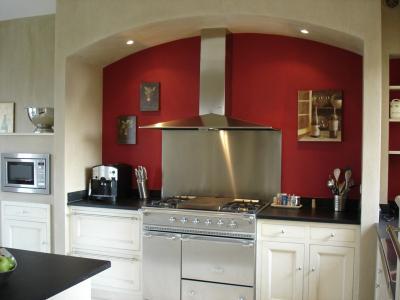 Mur de cuisine vie lgante grand 3 panneau moderne galerie - Toile deco cuisine ...