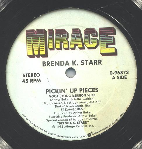 Brenda K. Starr - Pickin' Up Pieces (12 Inch)