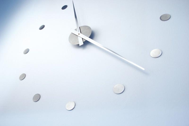 Horloge murale inox design - Pendule murale design inox ...