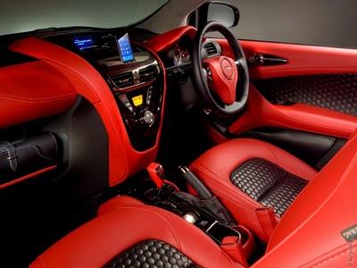 Voiture aston martin cygnet la smart de luxe for Interieur voiture de luxe