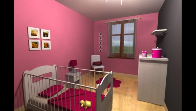 Decoration Chambre Fille Fushia