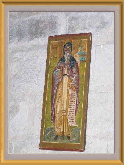 icone de saint Jean Cassien dans la crypte du monastere Saint-Victor, Marseille