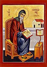 icone grecque de saint Jean Cassien