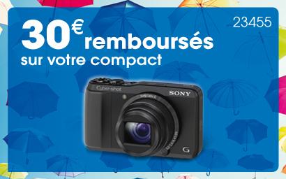 Remboursement de 30€ sur certains appareils photo compacts Sony
