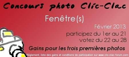 Concours photo Clic-Clac
