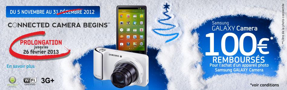 Remboursement de 100€ sur le Samsung Galaxy Camera
