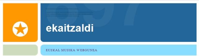 EKAITZALDI Euskal Musika Webgunea