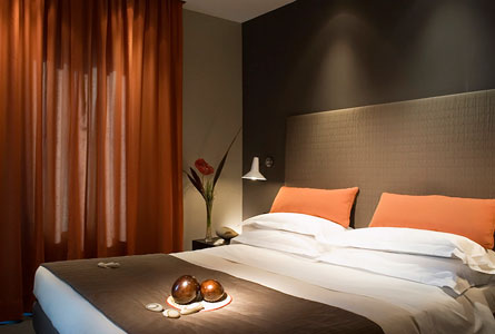 Awesome Chambre Orange Et Taupe Contemporary - Design Trends 2017 ...