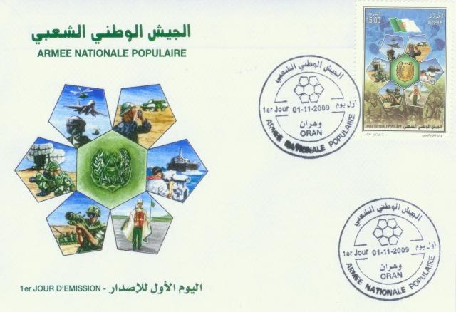 FDC,algerie,philatelie,armee,enveloppe premier jour