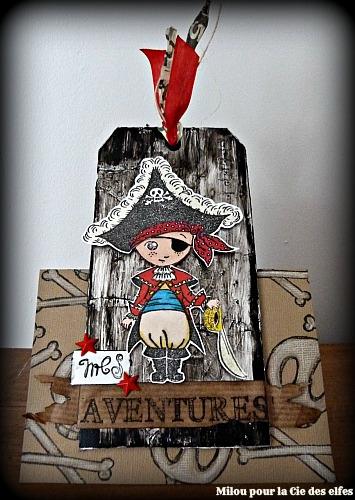 Voici Une Petite Carte Prsentoir Avec Lo En Pirate