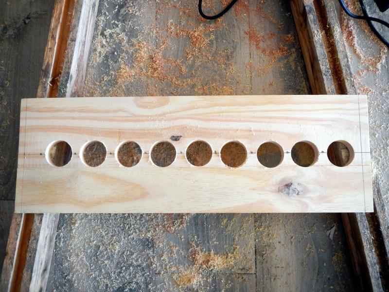 fabrication d un rack pour cannes p che. Black Bedroom Furniture Sets. Home Design Ideas