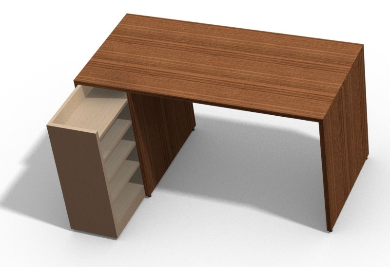 Fabrication Un bureau contemporain et simple