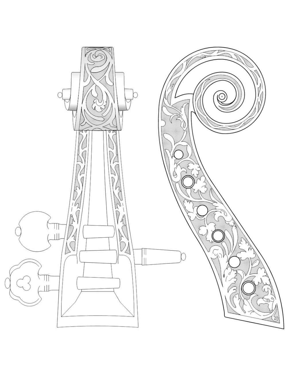 Dessiner une spirale de cornu ou clotho de - Dessiner un violon ...