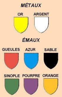 L 39 h raldique la science des blasons for La couleur jaune signification