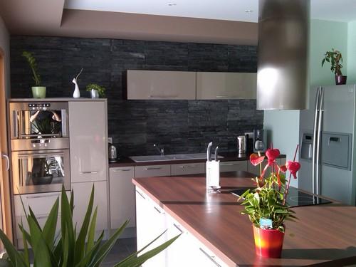 Credence en pierre de parement for Plaquette de parement pour cuisine